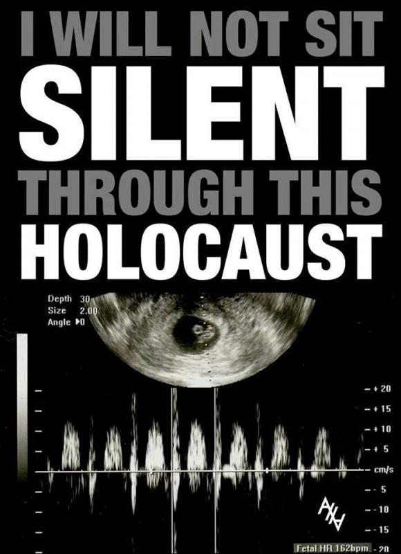 I will not sit silent through this holocaust Picture Quote #1