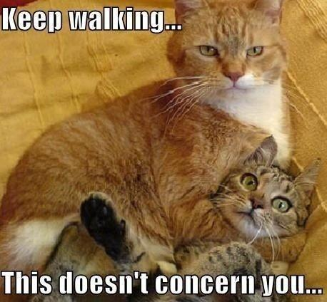 Keep walking... this doesn't concern you Picture Quote #1