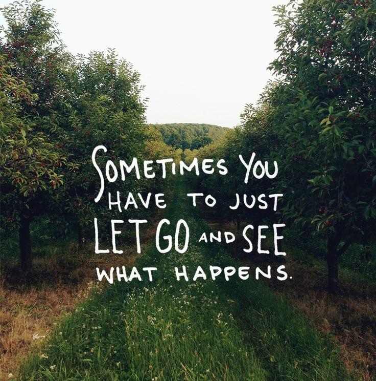 Sometimes you just have to go and see what happens Picture Quote #1