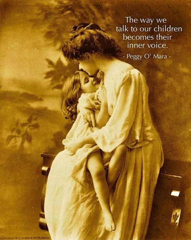 The way we talk to our children becomes their inner voice Picture Quote #2