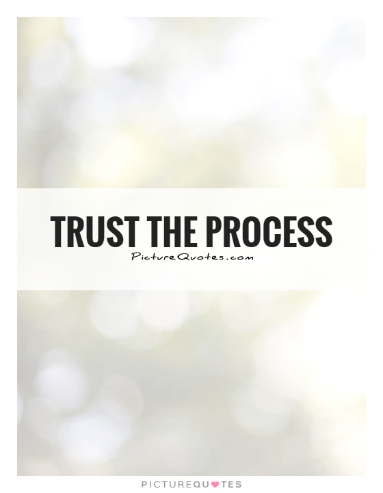 Trust the process Picture Quote #1