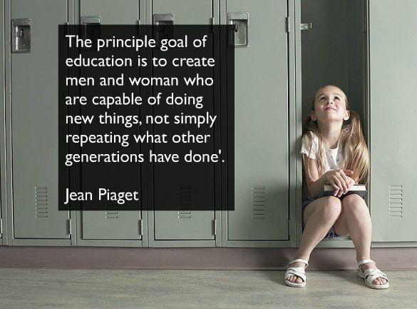 The principle goal of education in the schools should be creating men and women who are capable of doing new things, not simply repeating what other generations have done Picture Quote #1
