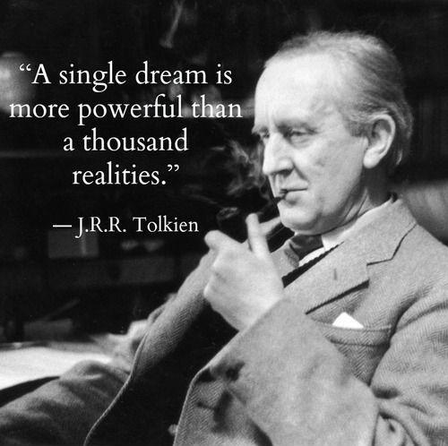 A single dream is more powerful than a thousand realities Picture Quote #2