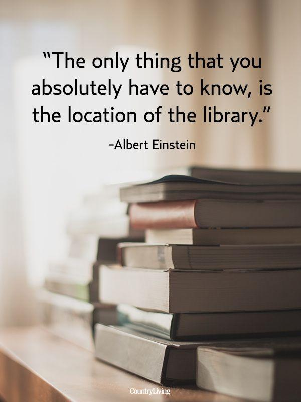 The only thing that you absolutely have to know, is the location of the library Picture Quote #1