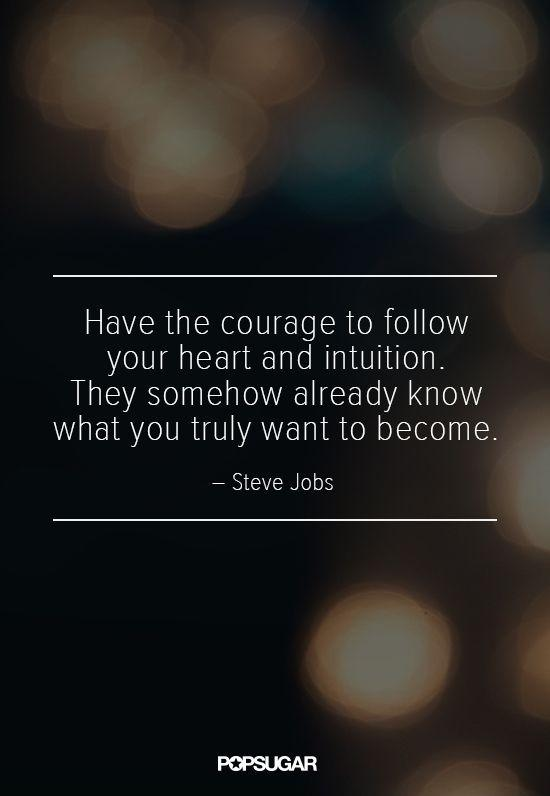 Have the courage to follow your heart and intuition. They somehow already know what you truly want to become Picture Quote #1