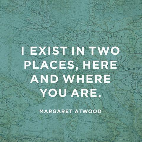 I exist in two places, here and where you are Picture Quote #1