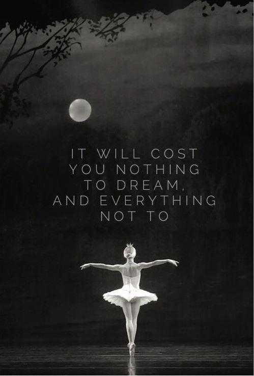 It will cost you nothing to dream, and everything not to Picture Quote #1