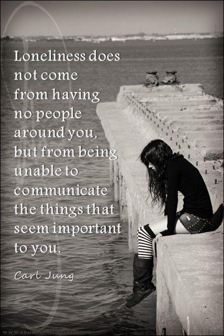 Loneliness does not come from having no people around you, but from being unable to communicate the things that seem important to you Picture Quote #2