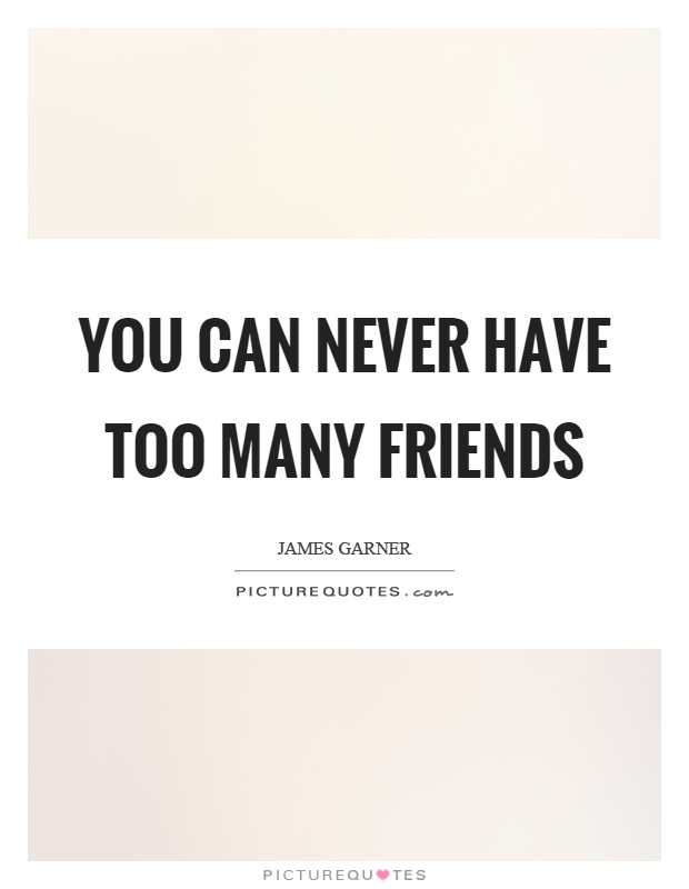 You can never have too many friends | Picture Quotes