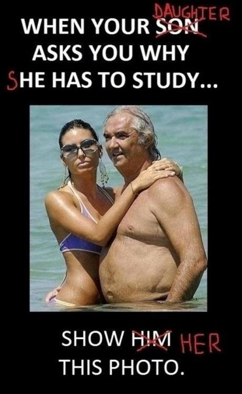When your daughter asks you why she has to study... show her this photo Picture Quote #1