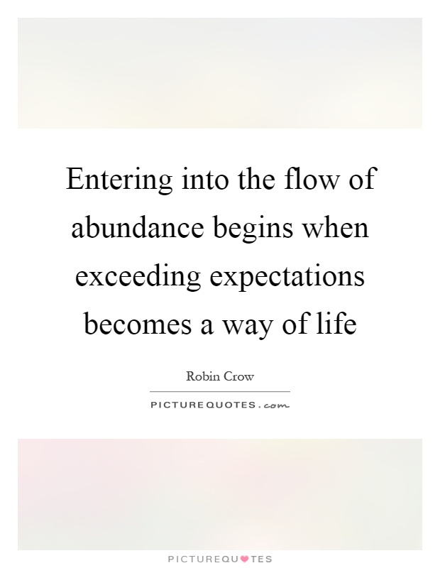 Exceeding Expectations Quotes Robin Crow Quotes