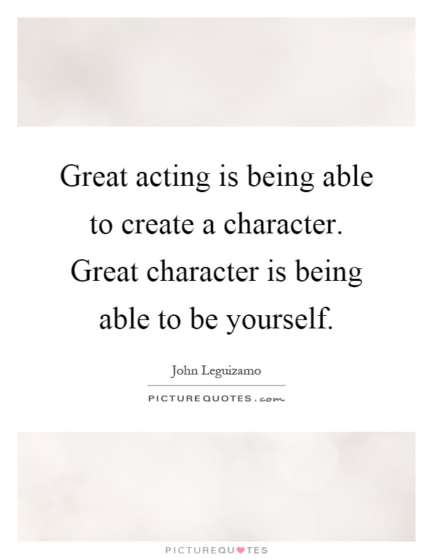 how to create a character acting