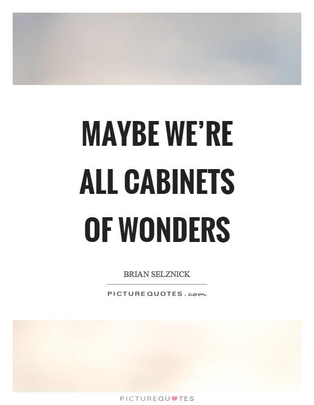 Maybe we're all cabinets of wonders Picture Quote #1