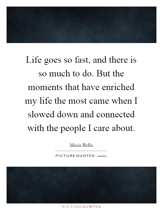 life goes fast quotes