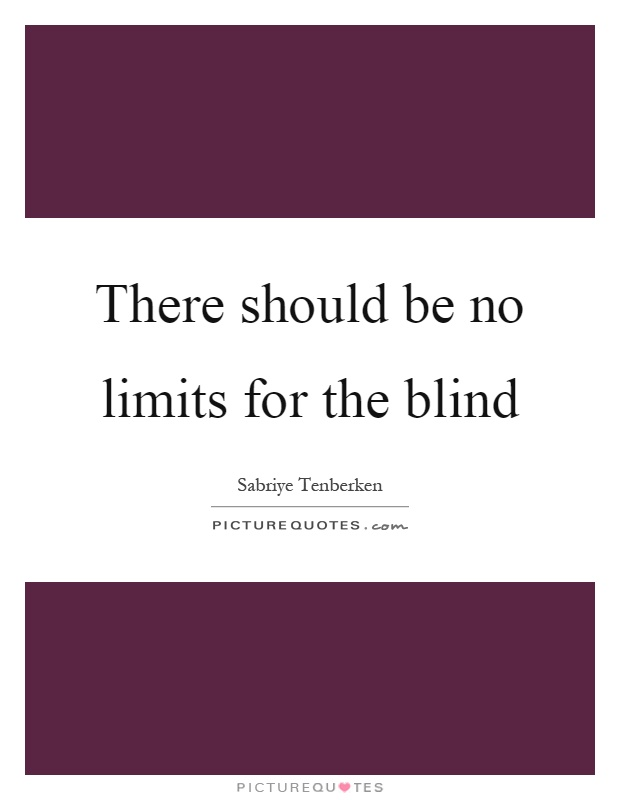 There should be no limits for the blind Picture Quote #1