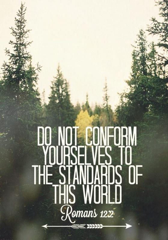 Do not conform yourselves to the standards of this world Picture Quote #1