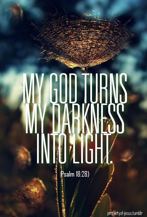 My God turns darkness into light Picture Quote #1