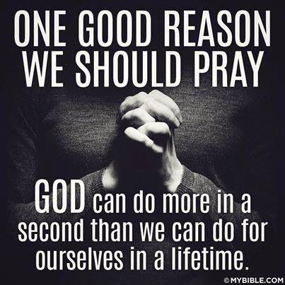 One good reason we should pray. God can do more in a second that we can do for ourselves in a lifetime Picture Quote #1