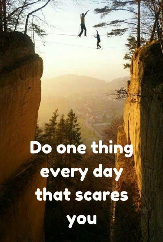 Do one thing every day that scares you Picture Quote #2