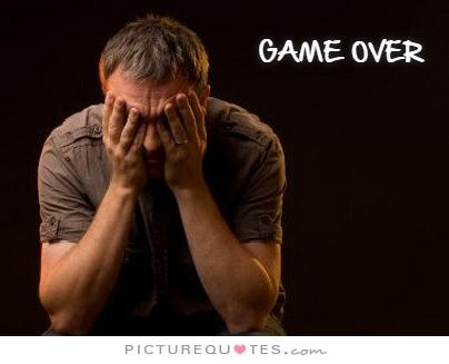 Game over Picture Quote #1