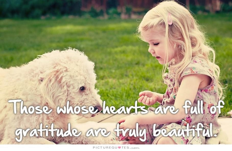 People whose hearts are full of gratitude are truly beautiful Picture Quote #1
