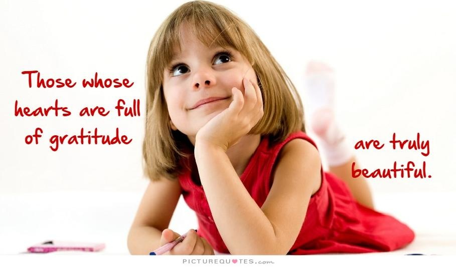 People whose hearts are full of gratitude are truly beautiful Picture Quote #4