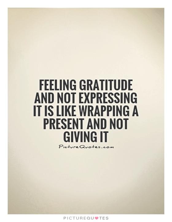 Feeling Gratitude Quote