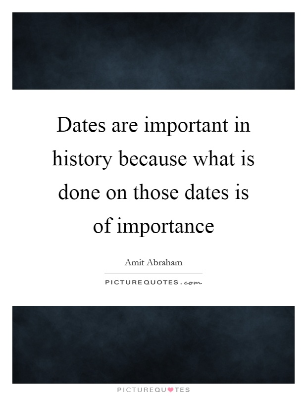 Dating in history