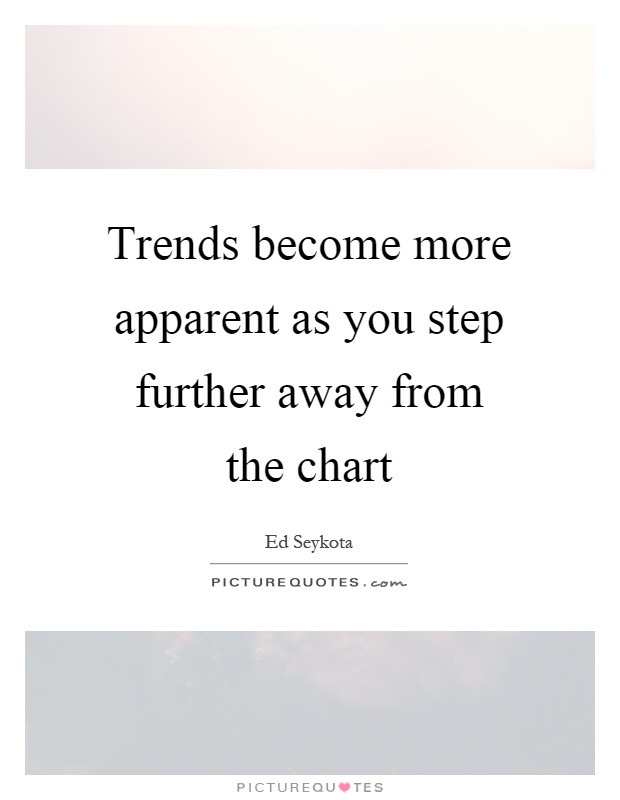 Trends become more apparent as you step further away from the chart Picture Quote #1