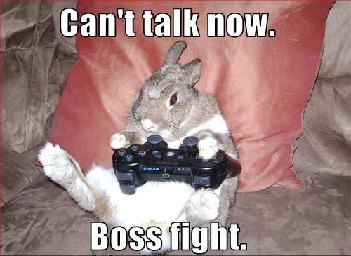 Can't talk now. Boss fight Picture Quote #1