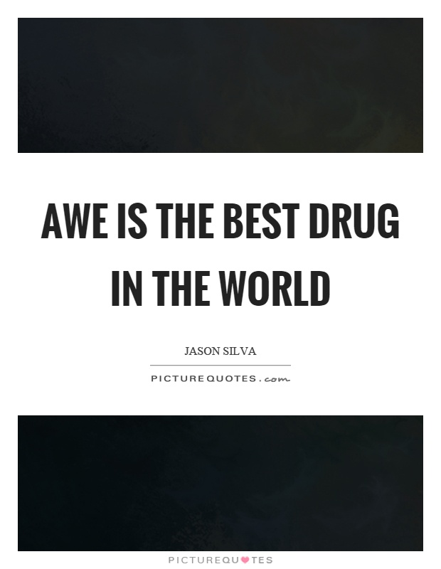 Awe is the best drug in the world Picture Quote #1