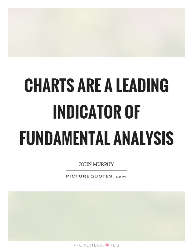 Charts are a leading indicator of fundamental analysis Picture Quote #1
