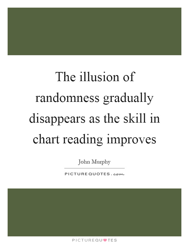 The illusion of randomness gradually disappears as the skill in chart reading improves Picture Quote #1