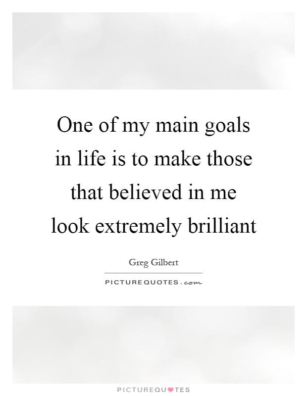 describing my main goals in life