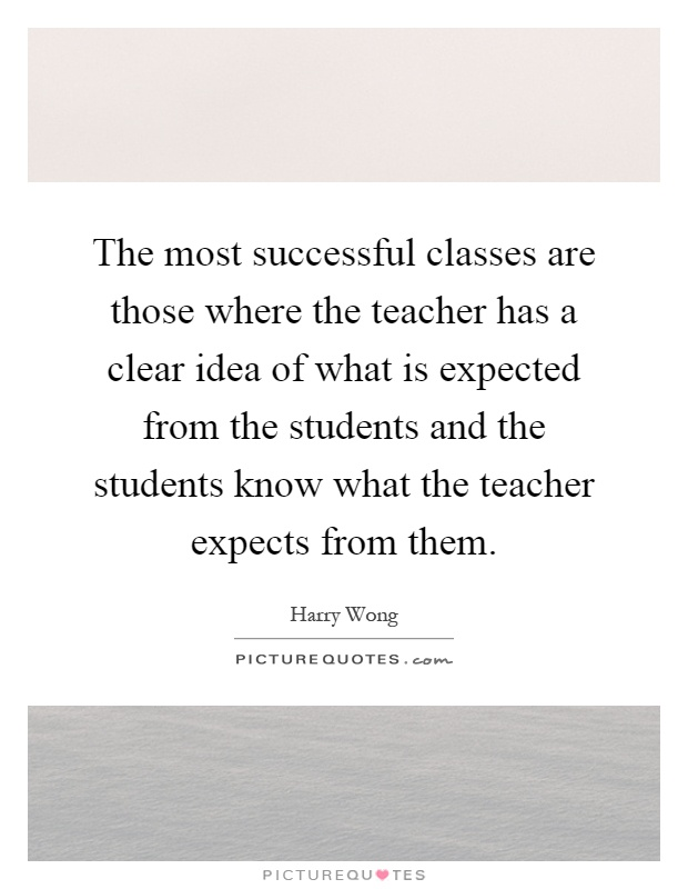 what is expected from a teacher