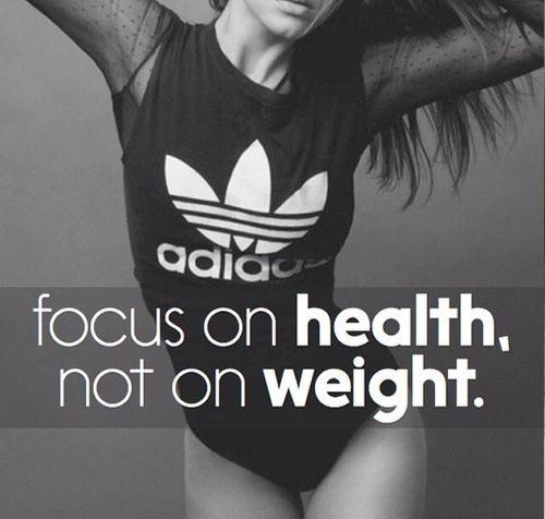 Focus on health, not on weight Picture Quote #1