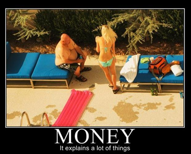 Money. It explains a lot of things Picture Quote #1