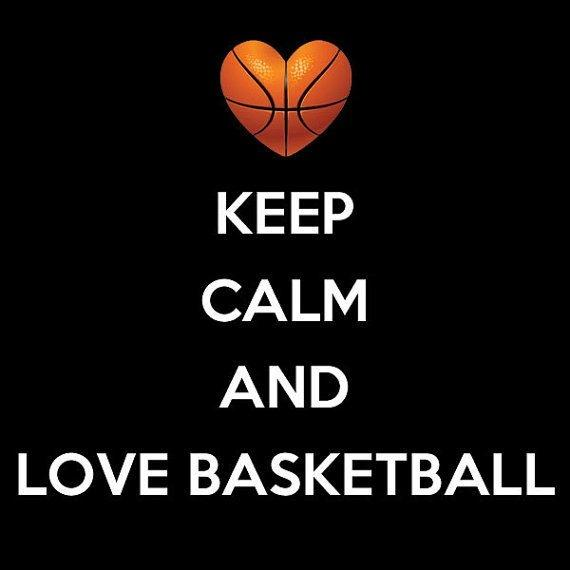 Keep calm and love basketball Picture Quote #1