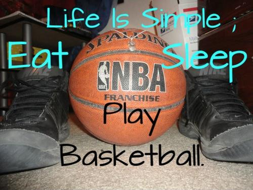 Life Is Simple. Eat. Sleep. Play Basketball Picture Quote #1