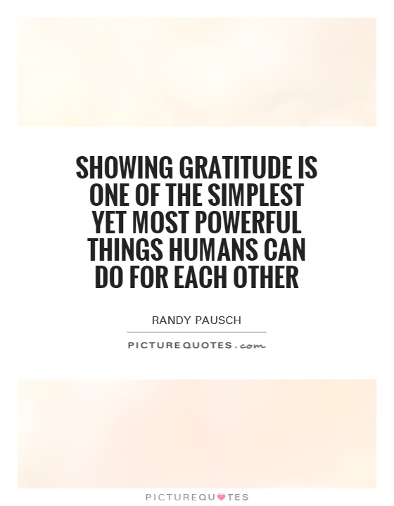 showing gratitude is one of the simplest yet most powerful