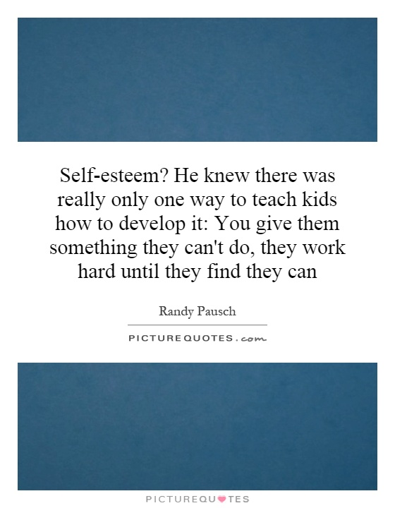 how to teach self esteem to youth