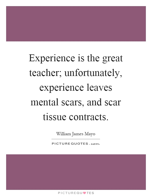 experience is a great teacher Experience is a great teacher, and old master sergeants have plenty of it in the armed services or civilian life, look for the guy/gal that's walked.