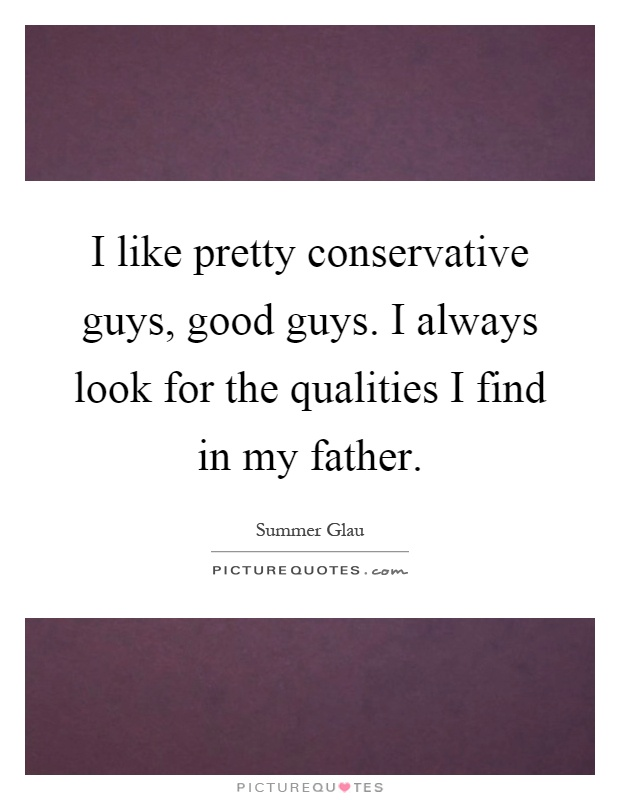 qualities in a guy