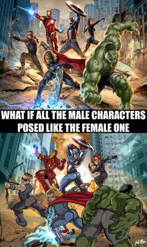 What if all the male characters posed like the female one Picture Quote #1