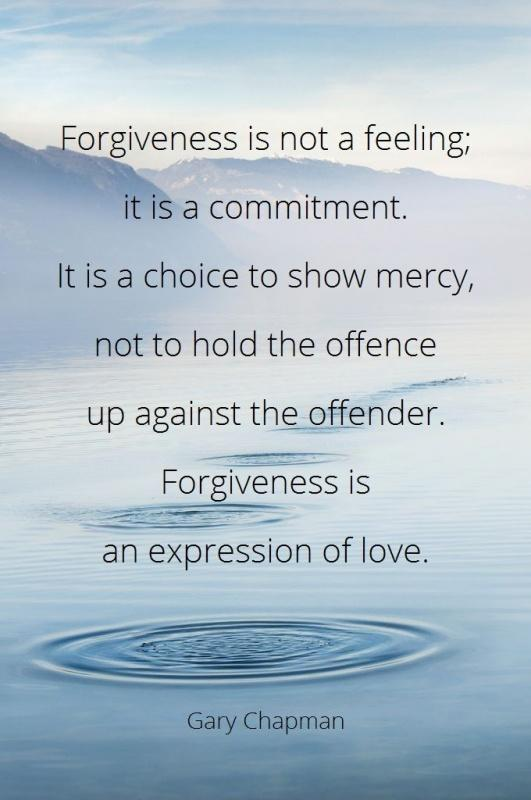 Forgiveness is not a feeling; It is a commitment. It is a choice to show mercy, not to hold offence up against the offender. Forgiveness is an expression of love Picture Quote #1