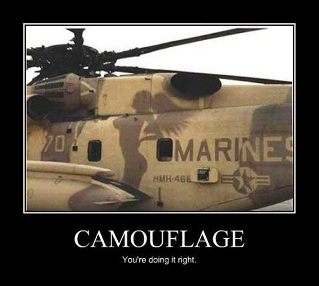 Camouflage. You're doing it right Picture Quote #1