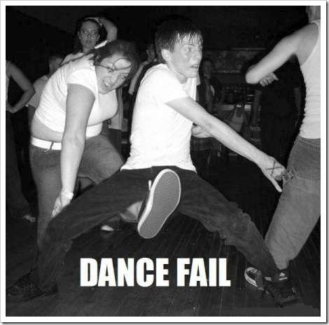 Dance fail Picture Quote #1