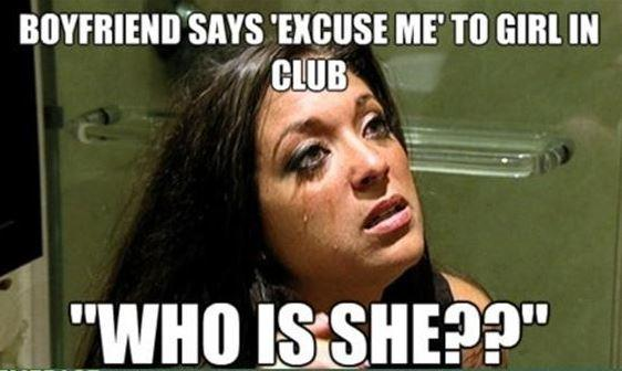 "Boyfriend says ""Excuse Me"" to girl in club. ""How is she??"" Picture Quote #1"