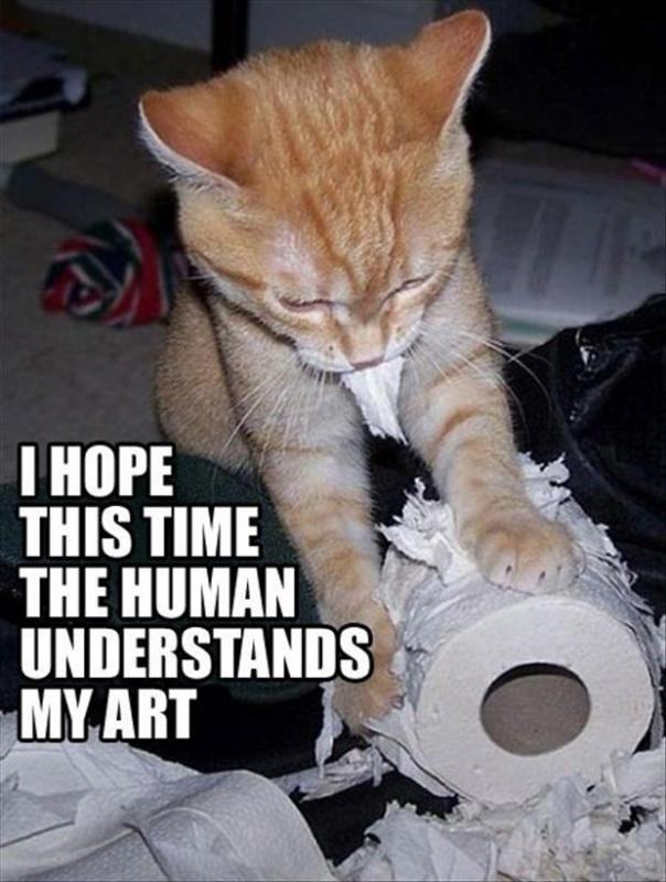 I hope this time the human understands my art Picture Quote #1
