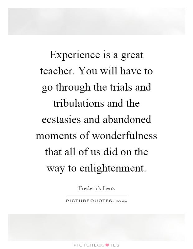 trials and tribulations essay